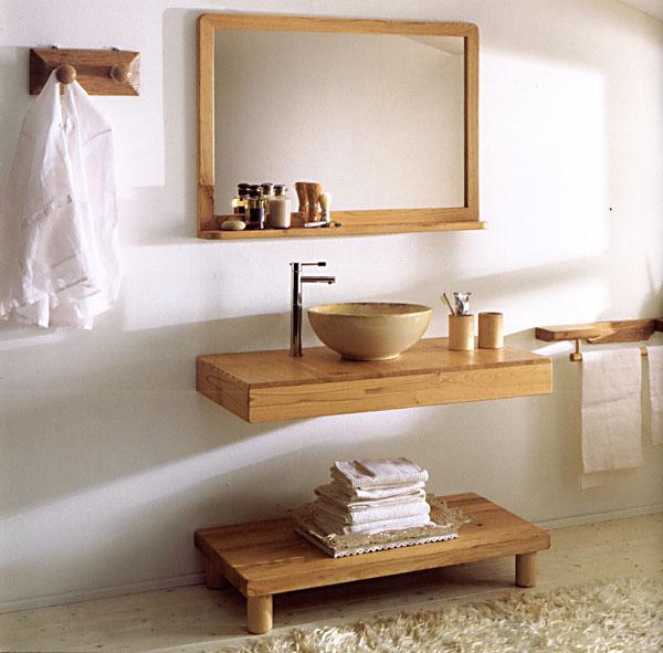 Мебель в ванную своими руками из дерева 637