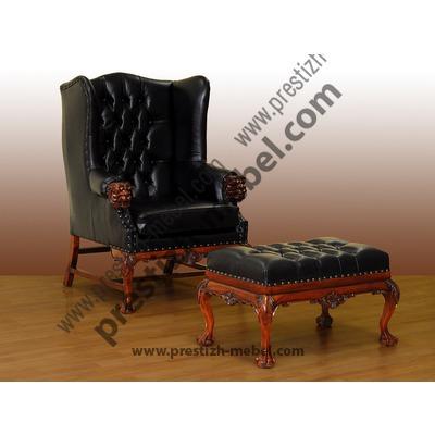 Кресло (массив красного дерева)