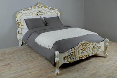 Кровать в стиле Рококо (Красное дерево) 180см